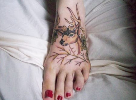 hirsch tattoo motive freshouse. Black Bedroom Furniture Sets. Home Design Ideas