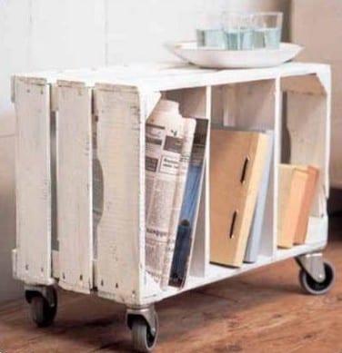 Holzkasten rolltisch freshouse for Rolltisch wohnzimmer