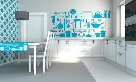 Interessante Wandgestaltung Für Die Küche Freshouse