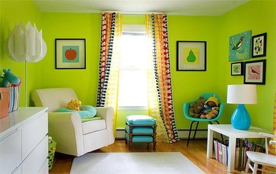 kinderzimmer grün-einrichtungsidee - fresHouse