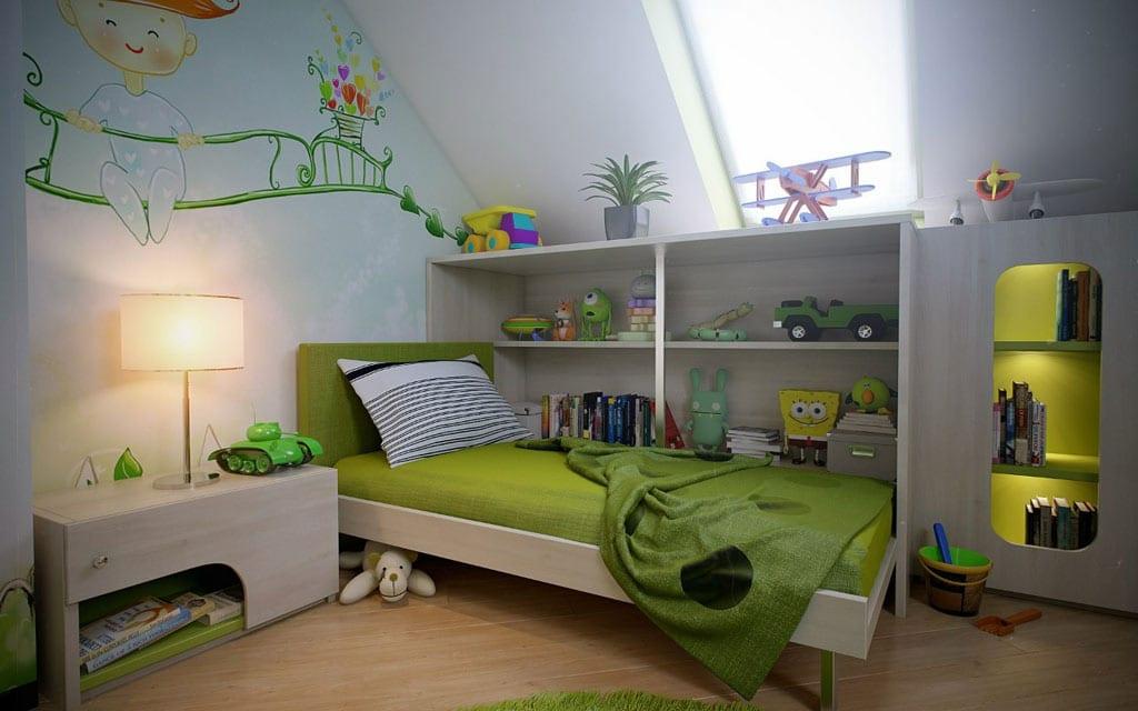 Kinderzimmer Grün Jungenzimmer Idee