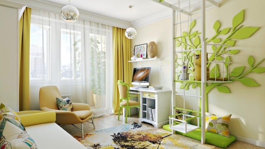kinderzimmer gr n sch ner wohnen freshouse. Black Bedroom Furniture Sets. Home Design Ideas