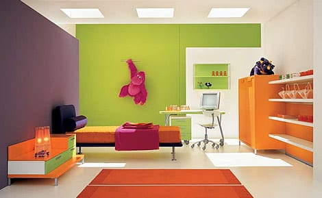 Kinderzimmer Grün Wandfarbe Kinderzimmer