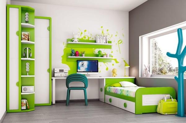kinderzimmer grün wandtattoo idee fürs kinderzimmer