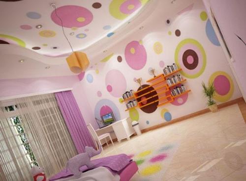 AuBergewohnlich Kinderzimmer Wandgestaltung Idee