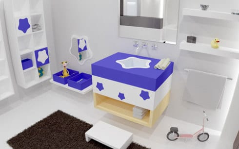 Kinder-Badezimmer – moderne Gestaltungsideen für kleine Kinder