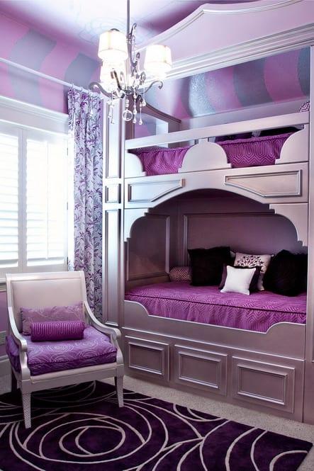 Kleines Schlafzimmer Einrichten In Lila   FresHouse