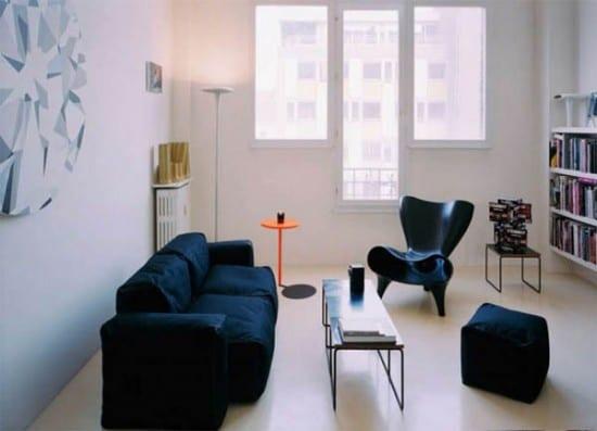 kleines wohnzimmer einrichten in wei freshouse. Black Bedroom Furniture Sets. Home Design Ideas