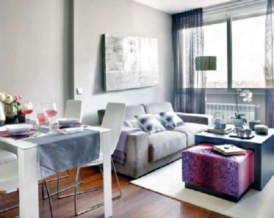 Kleines Wohnzimmer Einrichtenin Grau