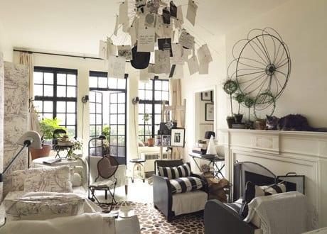 kleines wohnzimmer einrichtung mit kamin - fresHouse