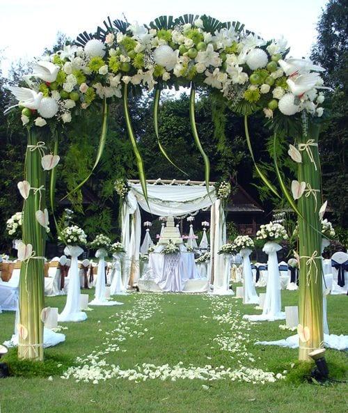 Kreative Blumen Hochzeit Deko Freshouse