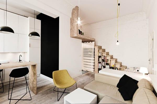 kreative einrichtungsidee f r kleine wohnung freshouse. Black Bedroom Furniture Sets. Home Design Ideas