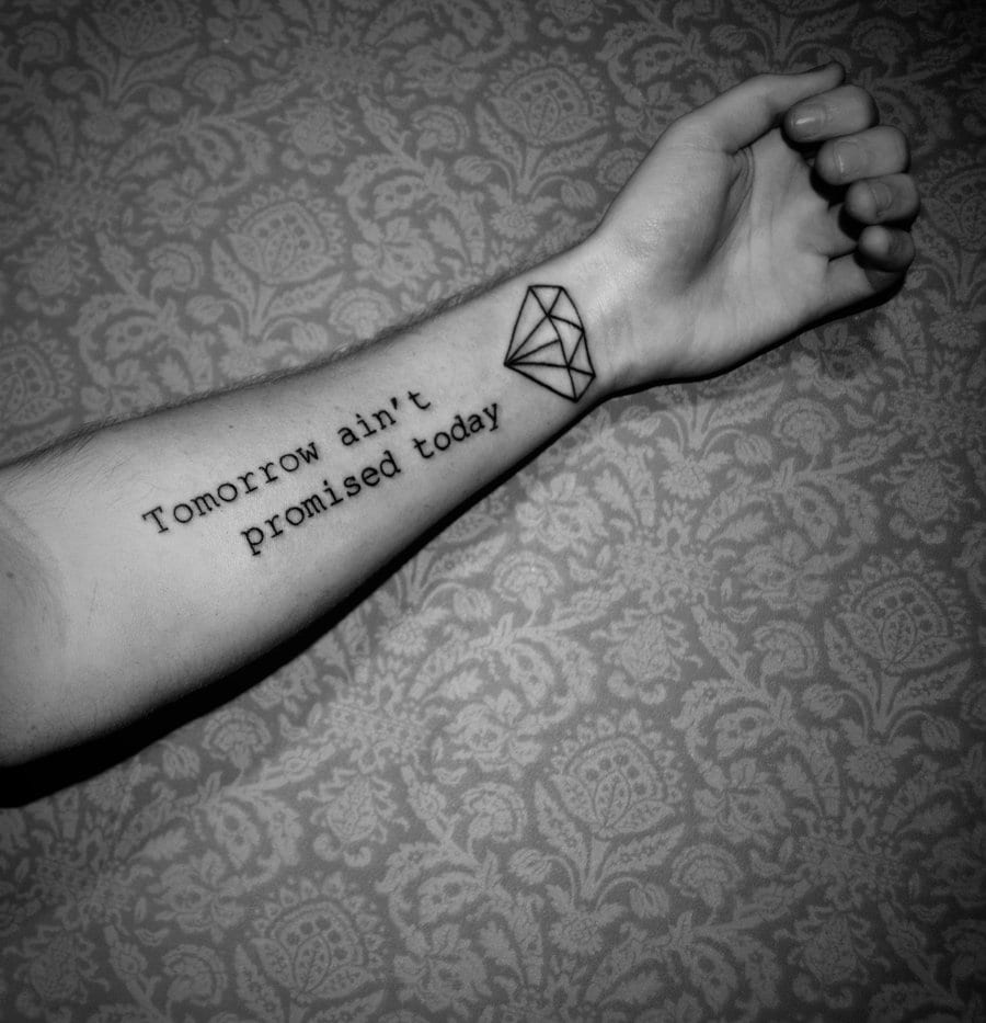 Männer Unterarm Tattoo Schrift Freshouse