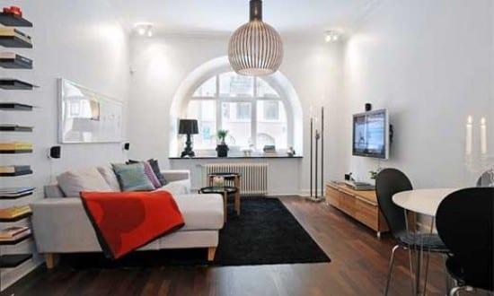 Good Moderne Wohnungsgestaltung U2013 Kleines Wohnzimmer Idee Photo