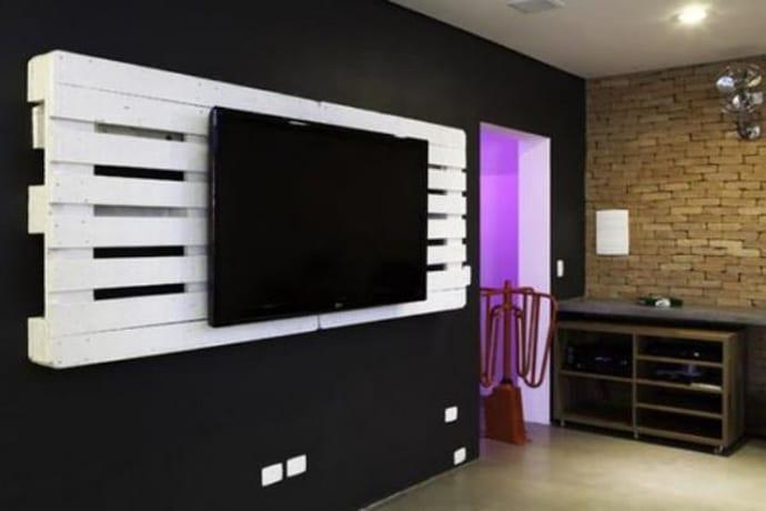 paletten tv wand freshouse. Black Bedroom Furniture Sets. Home Design Ideas