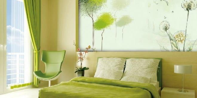 wand streichen ideen in grün