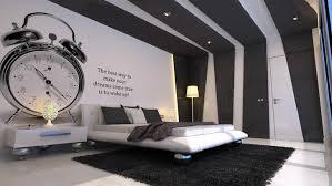 wandstreichidee fürs schlafzimmer in weiß und schwarz
