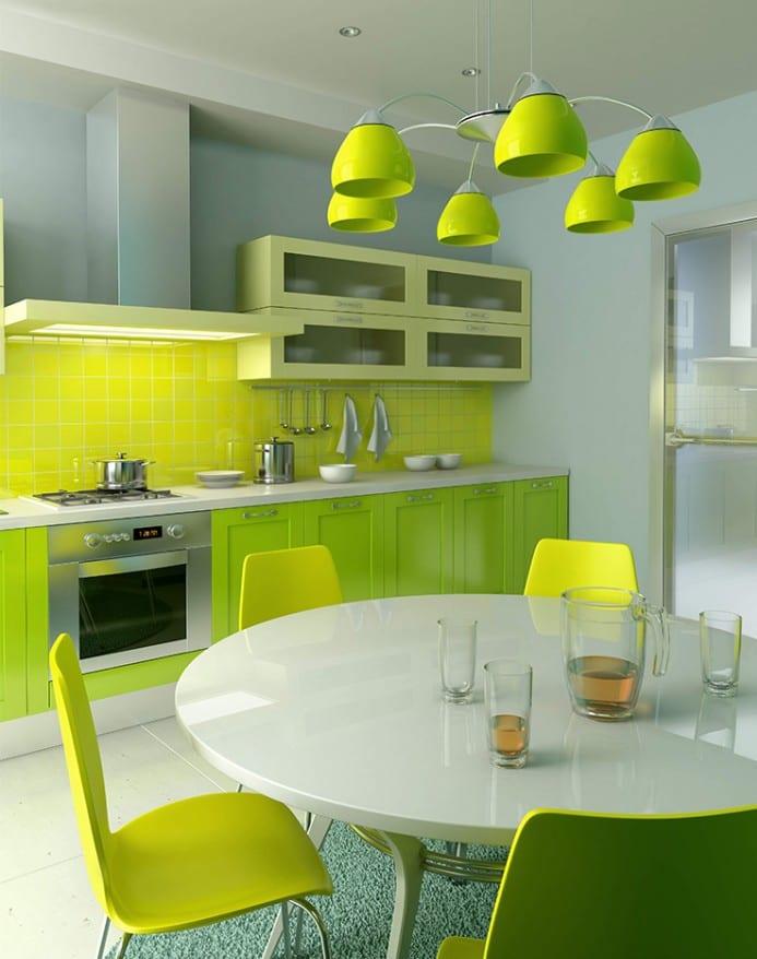 wohnungsgestaltung - Küche Farbeinrichtung ideen - fresHouse