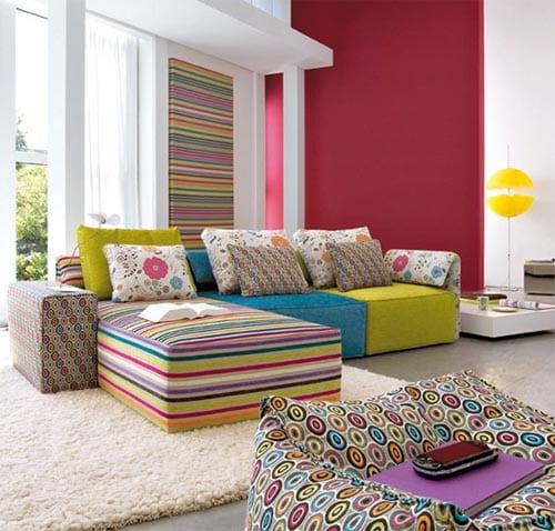 Wohnungsgestaltung Frische Farbeinrichtungsidee Freshouse