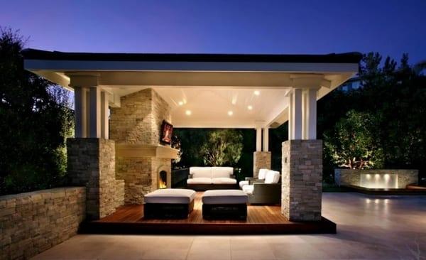 Moderne terrassengestaltung  überdachte terrasse- moderne terrassengestaltung - fresHouse