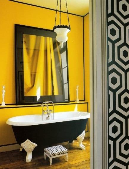 Farbgestaltung Badezimmer   Gelbe Wand
