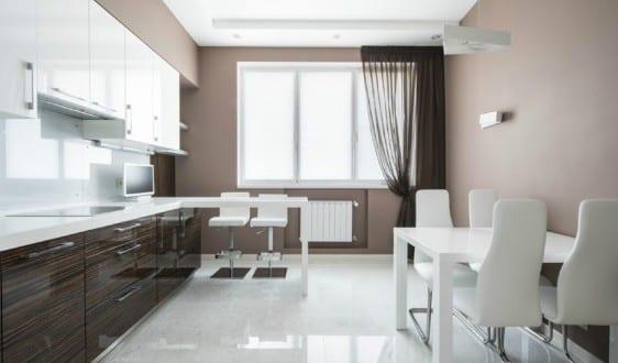 Farbgestaltung Küche - Taupe Farbe - Freshouse