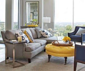 Farbgestaltung -Wohnzimmer grau - fresHouse