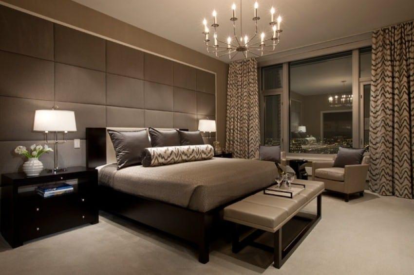 wandfarbe taupe schlafzimmer einrichten - Schlafzimmer Einrichten