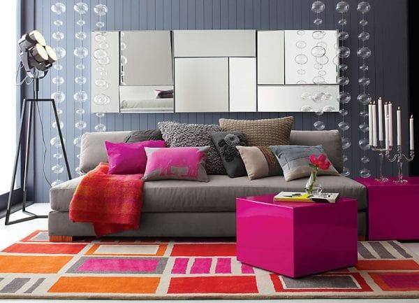 Wohnzimmer grau- Wohnwand grau - fresHouse