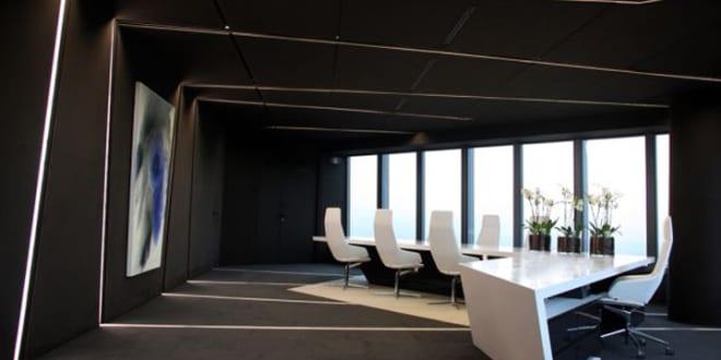 Raumgestaltung ideen büro  büro interior idee mit schwarzen wände und decke - fresHouse