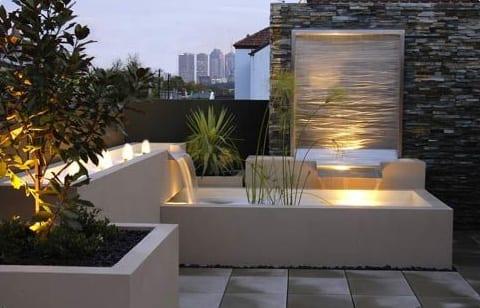 Dachterrasse Mit Wasser Freshouse