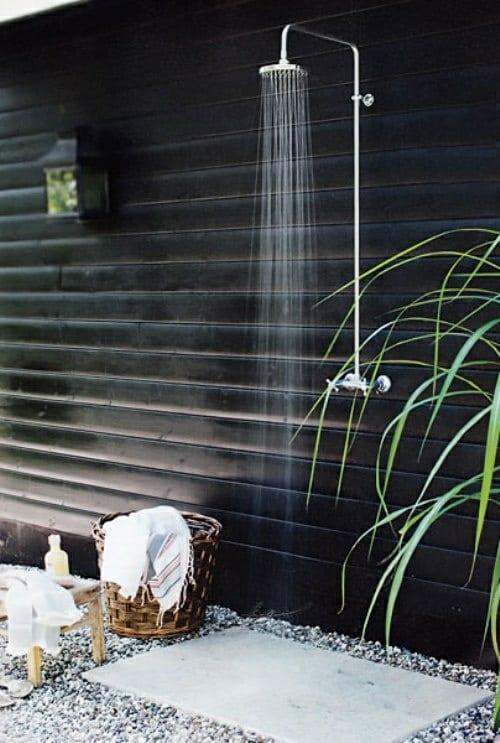 Gartengestaltung Außendusche Im Garten Freshouse