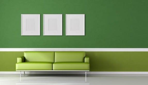 Arbeitszimmer farbgestaltung  Wandgestaltung Grün - fresHouse