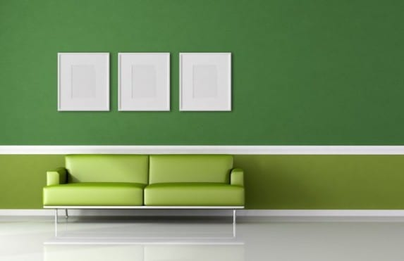 gr ne wandgestaltung wohnzimmer farbgestaltung freshouse. Black Bedroom Furniture Sets. Home Design Ideas