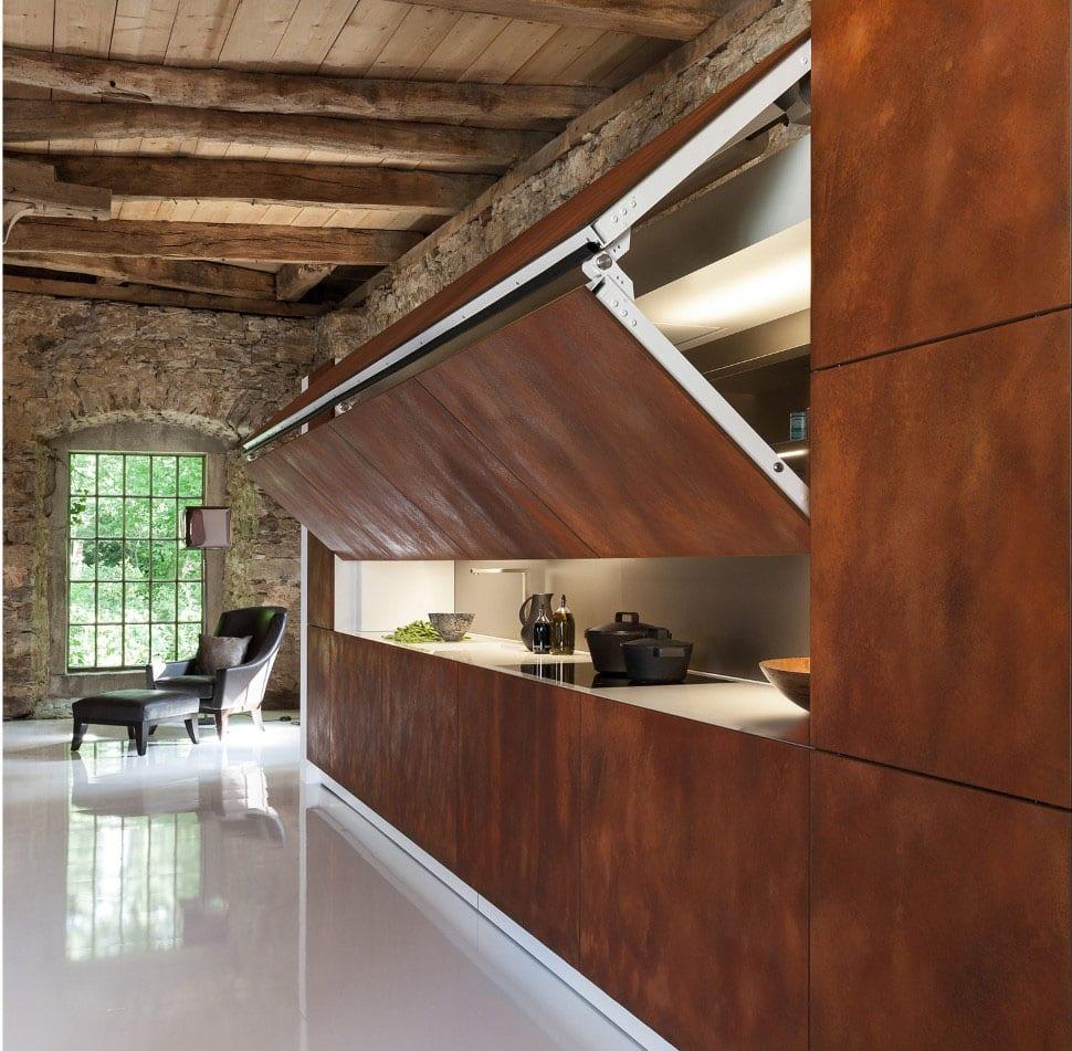 Gestaltung Küche loft einrichtung geheimtür küche gestaltung freshouse