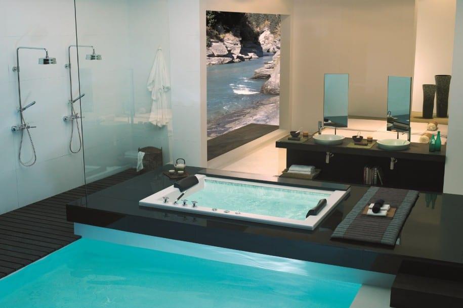 moderne Badezimmer Einrichtung- pool im Bad - fresHouse