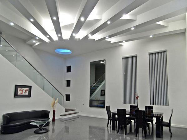 Moderne Deckengestaltung Wohnzimmer Freshouse