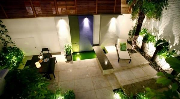 Moderne Terrassengestaltung Mit Wasser Freshouse