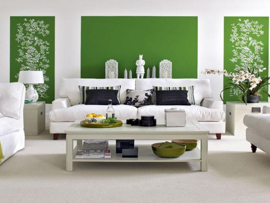moderne wandgestaltung grün - fresHouse