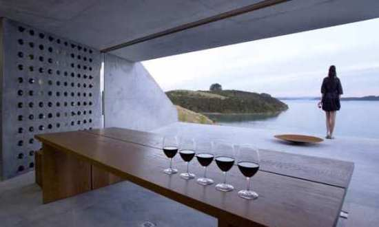 Wiroa Station – ein moderner Weinkeller mit Aufsichtsplattform