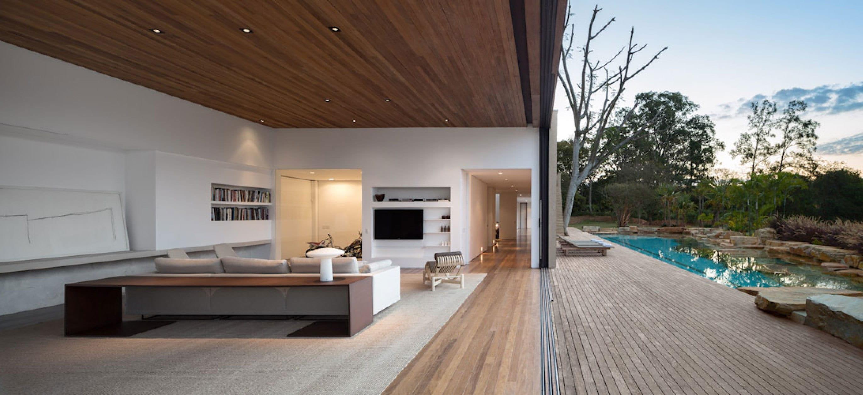 open space wohnraum minimalistische gestaltungsidee freshouse. Black Bedroom Furniture Sets. Home Design Ideas