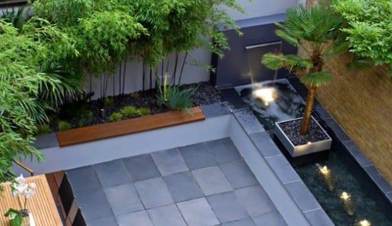 terassengestaltung terrassengestaltung mit wasser und garten modern ideen