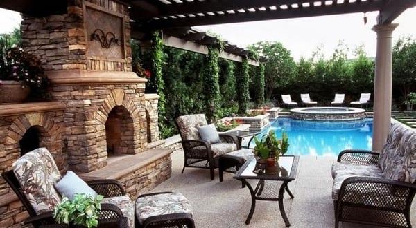 Terrassengestaltung Mit Wasser Und Naturstein Freshouse
