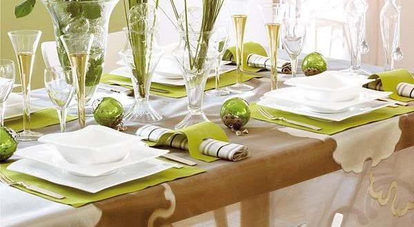 Tisch Eindecken Grun Freshouse