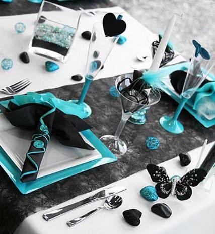Tisch Eindecken Tisch Deko Idee In Schwarz Freshouse