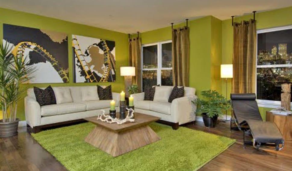 Wandgestaltung Grün Fürs Wohnzimmer
