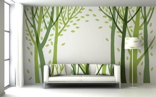 wandgestaltung gr n moderne wandgestaltung freshouse. Black Bedroom Furniture Sets. Home Design Ideas