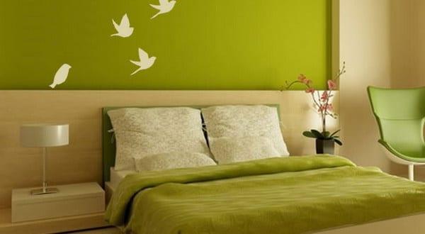 Attraktiv Wandgestaltung Grün U2013 Schlafzimmer