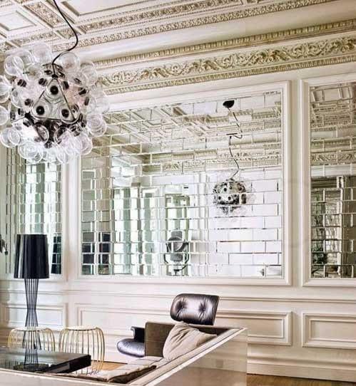 Wandgestaltung Mit Spiegeln Tuğla U2013 Ayna Kaplama