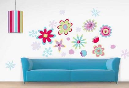 Wandtattoo Blumen Furs Wohnzimmer Freshouse